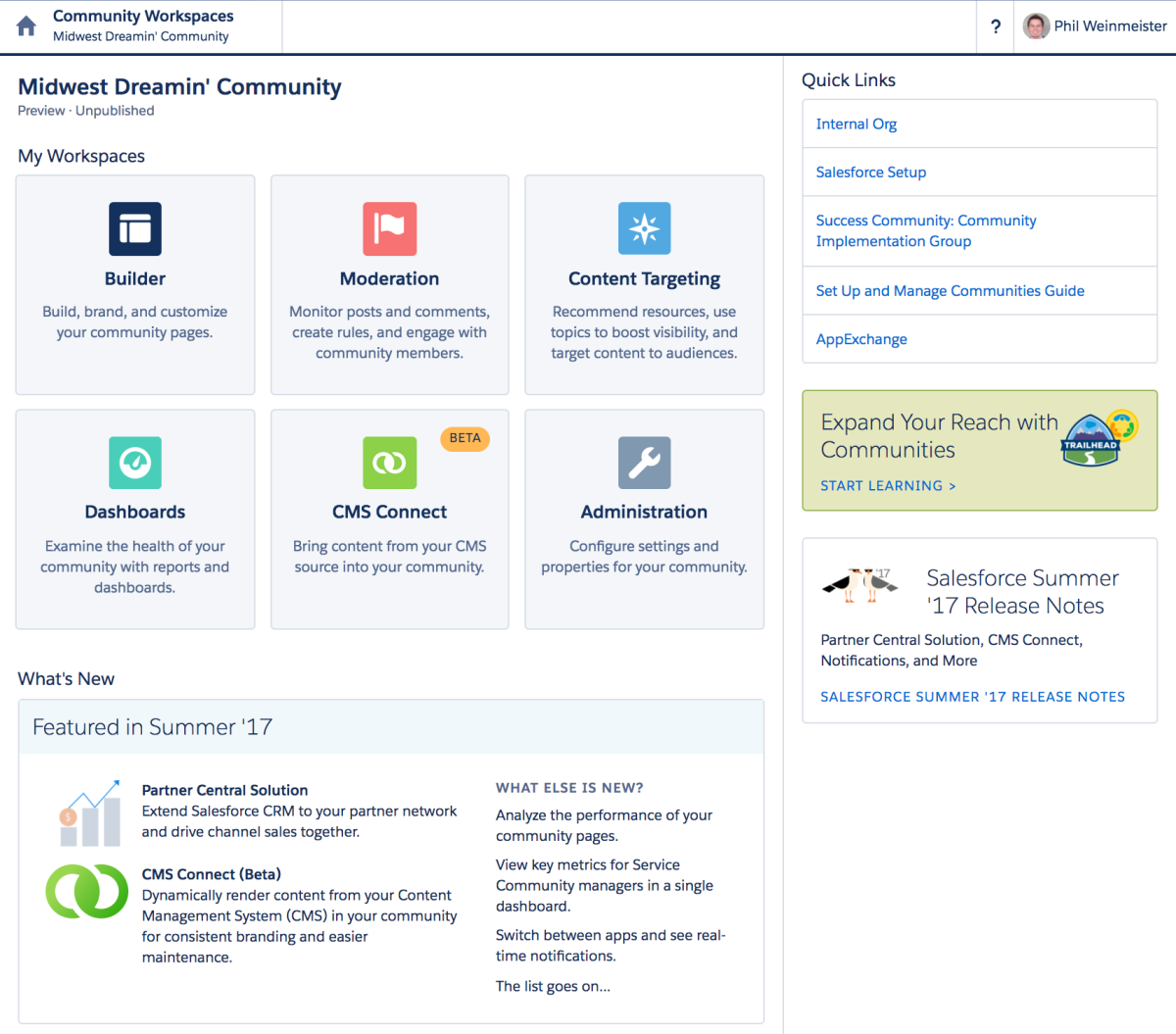 Expand Your Reach With Communities Salesforce Trailhead